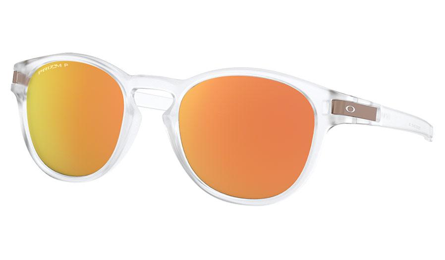 ba24073d1438b Oakley Latch Sunglasses - Matte Clear   Prizm Rose Gold Polarised ...