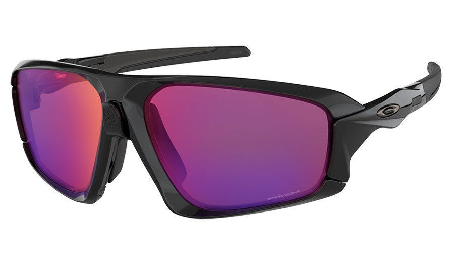 Oakley Sonnenbrille Field Jacket Polished Black/Prizm Road NhhmA