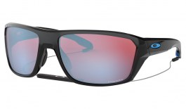 Oakley Split Shot Sunglasses - Polished Black / Prizm Snow Sapphire