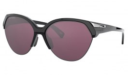 Oakley Trailing Point Sunglasses - Polished Black / Prizm Road Black