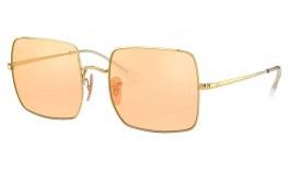 Ray-Ban RB1971 Square Sunglasses - Gold / Evolve Orange Gold Mirror Photochromic