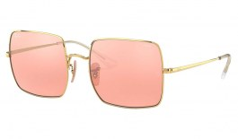 Ray-Ban RB1971 Square Sunglasses - Gold / Evolve Pink Grey Mirror Photochromic