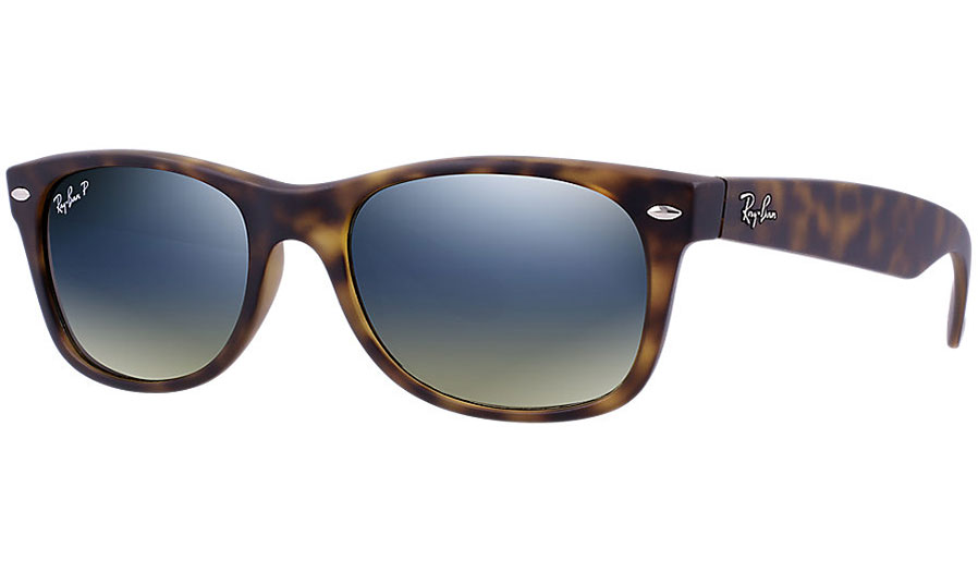 1c76051f1d Ray-Ban RB2132 New Wayfarer Sunglasses - Matte - Tortoise   Blue-Green  Gradient Polarised - RxSport