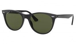 Ray-Ban RB2185 Wayfarer II Sunglasses - Black / Green Polarised