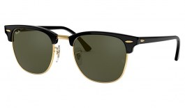 Ray-Ban RB3016 Clubmaster Sunglasses - Black / Green