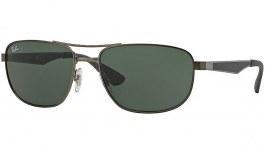 Ray-Ban RB3528 Sunglasses - Gunmetal / Green