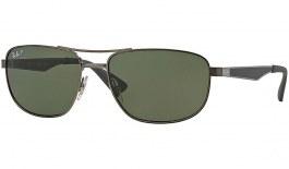 Ray-Ban RB3528 Sunglasses - Gunmetal / Green Polarised