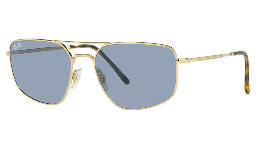 Ray-Ban RB3666 Sunglasses - Gold / Blue Classic