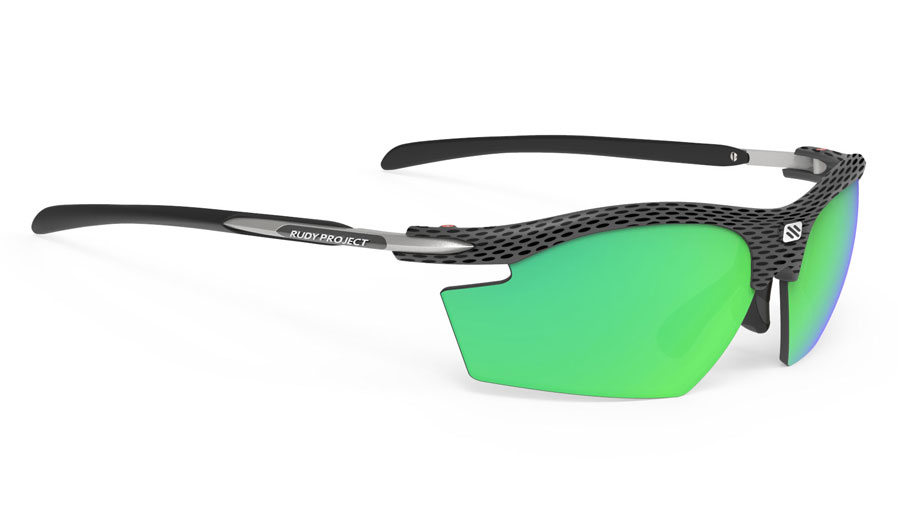 Rudy Project Rydon Prescription Sunglasses - Clip-On Insert - Carbon / Polar 3FX HDR Multilaser Green