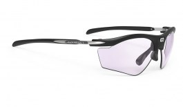 Rudy Project Rydon Slim Prescription Sunglasses - Clip-On Insert - Matte Black (Golf Edition) / ImpactX 2 Photochromic Laser Purple