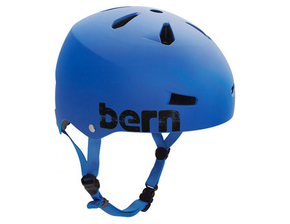 Bern Macon Hard Hat w/ Brock Foam - Matte Cobalt